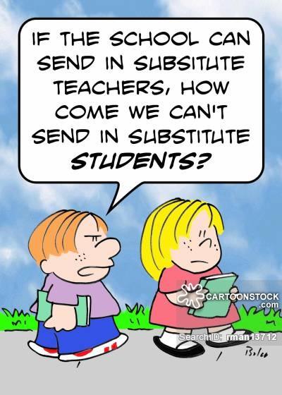 Substitute teacher clip art.