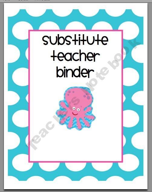17 Best ideas about Substitute Teacher Binder on Pinterest.