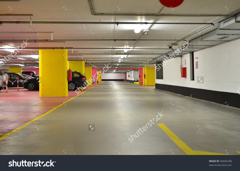 Half Empty Underground Garage Parking Stock Photo 94605298.