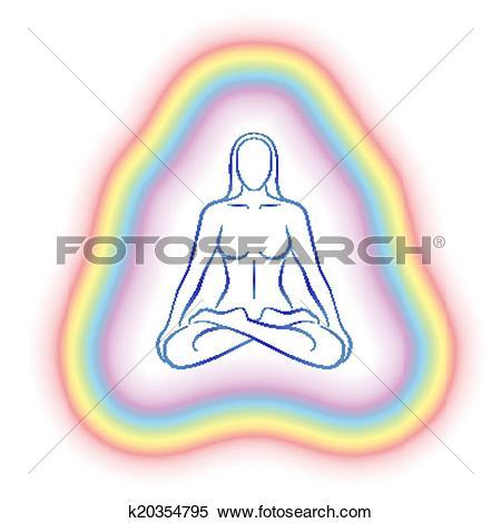 Clipart of Aura Meditation Subtle Body Woman k20354795.