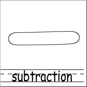 Clip Art: Math Symbols: Set 2: Subtraction B&W Labeled I.