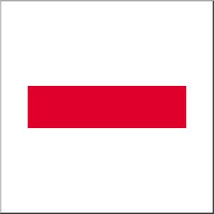 Clip Art: Math Symbols: Set 1: Subtraction Color I abcteach.