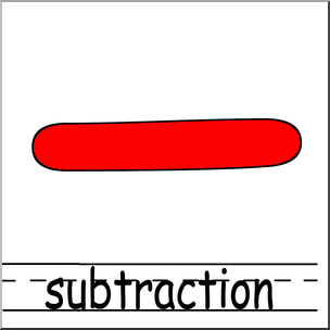 Clip Art: Math Symbols: Set 2: Subtraction Color Labeled I.