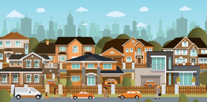 Suburbs clipart - Clipground