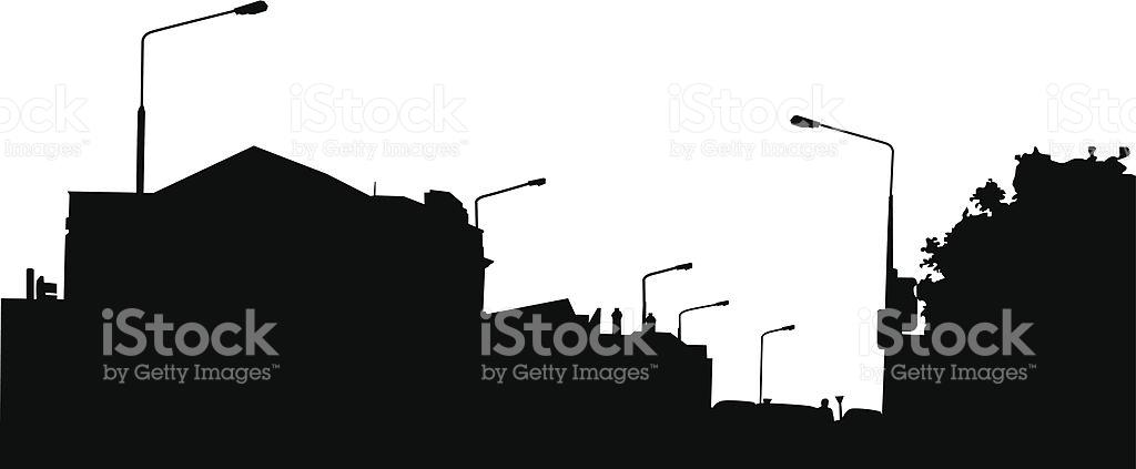 Suburban Silhouette stock vector art 165067612.