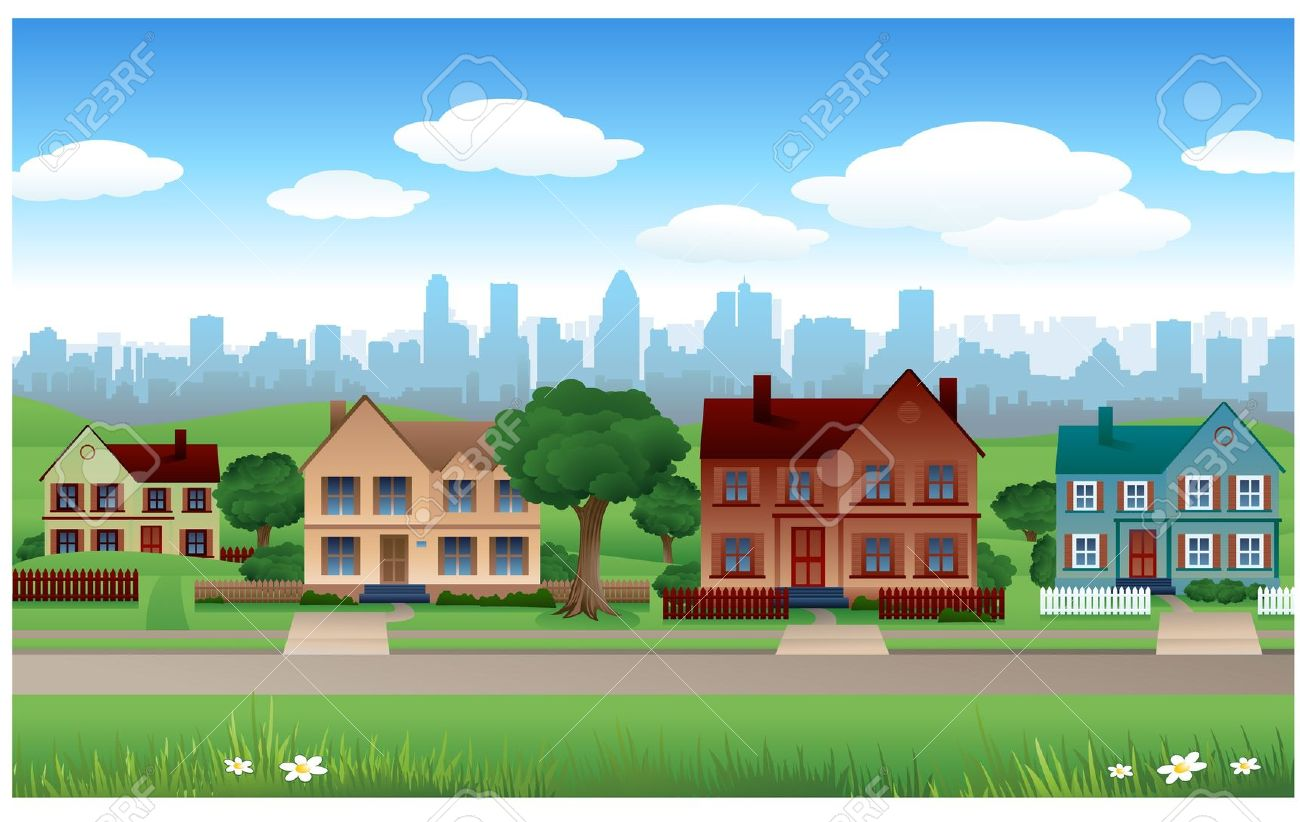 Background Property Developments : Suburbs clipart clipground