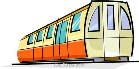 subway car Royalty Free Vector Clip Art illustration.