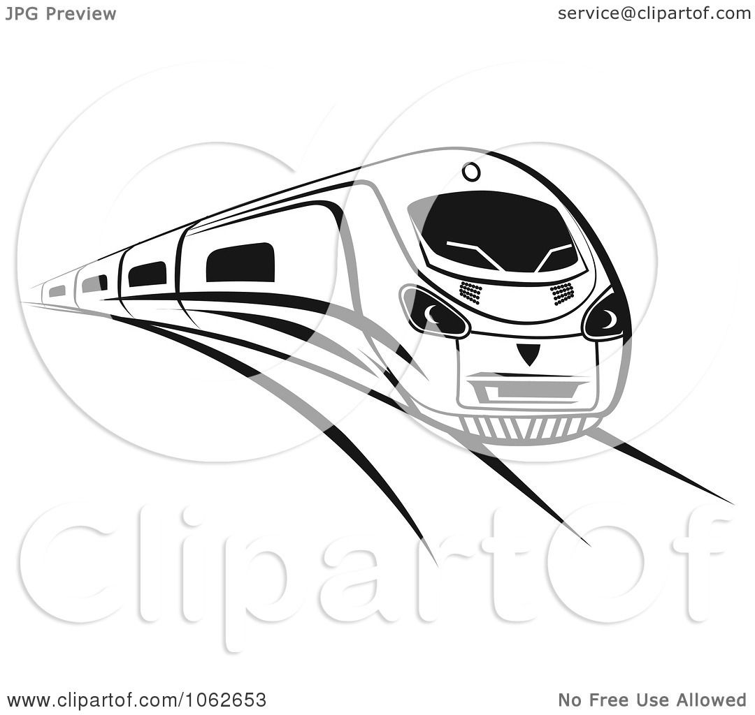 Clipart Subway Train In Black And White 1.