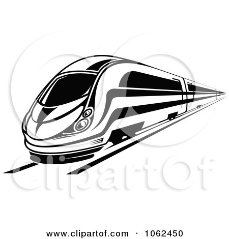 Clipart Subway Train In Black And White 5.