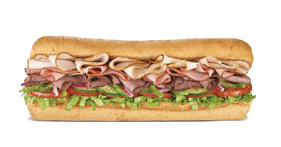 Subway Sandwich Background PNG Image.
