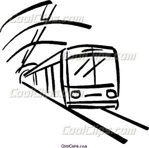 subway train Vector Clip art.