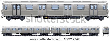 Subway Train Stock Images, Royalty.