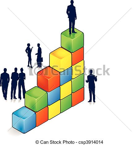 EPS Vector of ladder of success csp3914014.