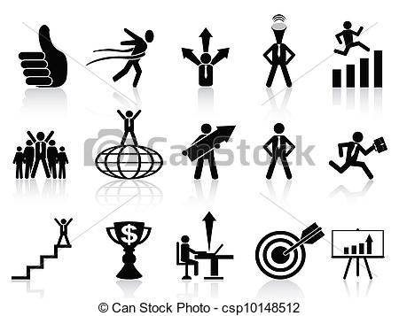 Vector Clip Art of successful business icons set.