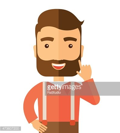 Caucasian young successful man Clipart Image.