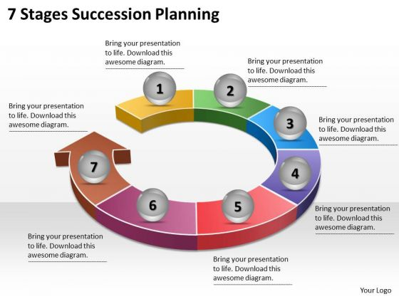 Timeline Ppt Template 7 Stages Succession Planning.