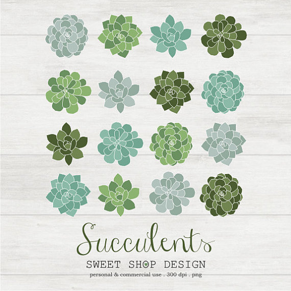 Free Succulent Clip Art.