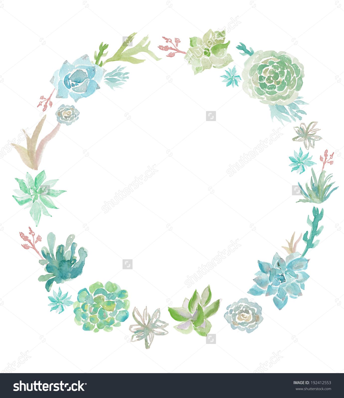 Succulent Plant Clip Art Succulent Clip Stock Illustration.