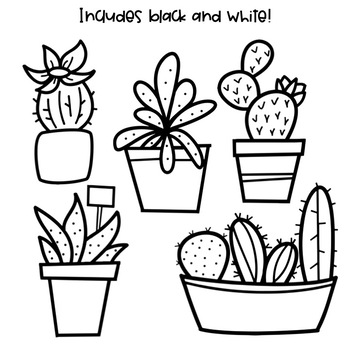 Cactus & Succulent Doodles.