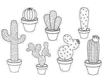 Succulent clipart black and white 3 » Clipart Station.