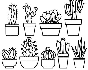 Succulent clipart black and white » Clipart Station.