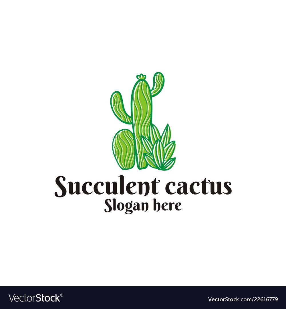 Succulent cactus logo.