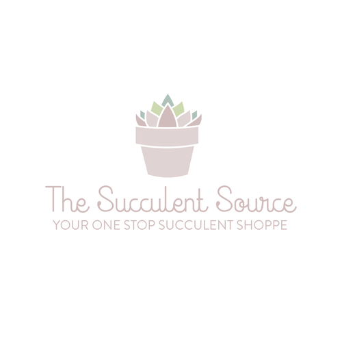 Succulent Logo for Wedding and Events Company.