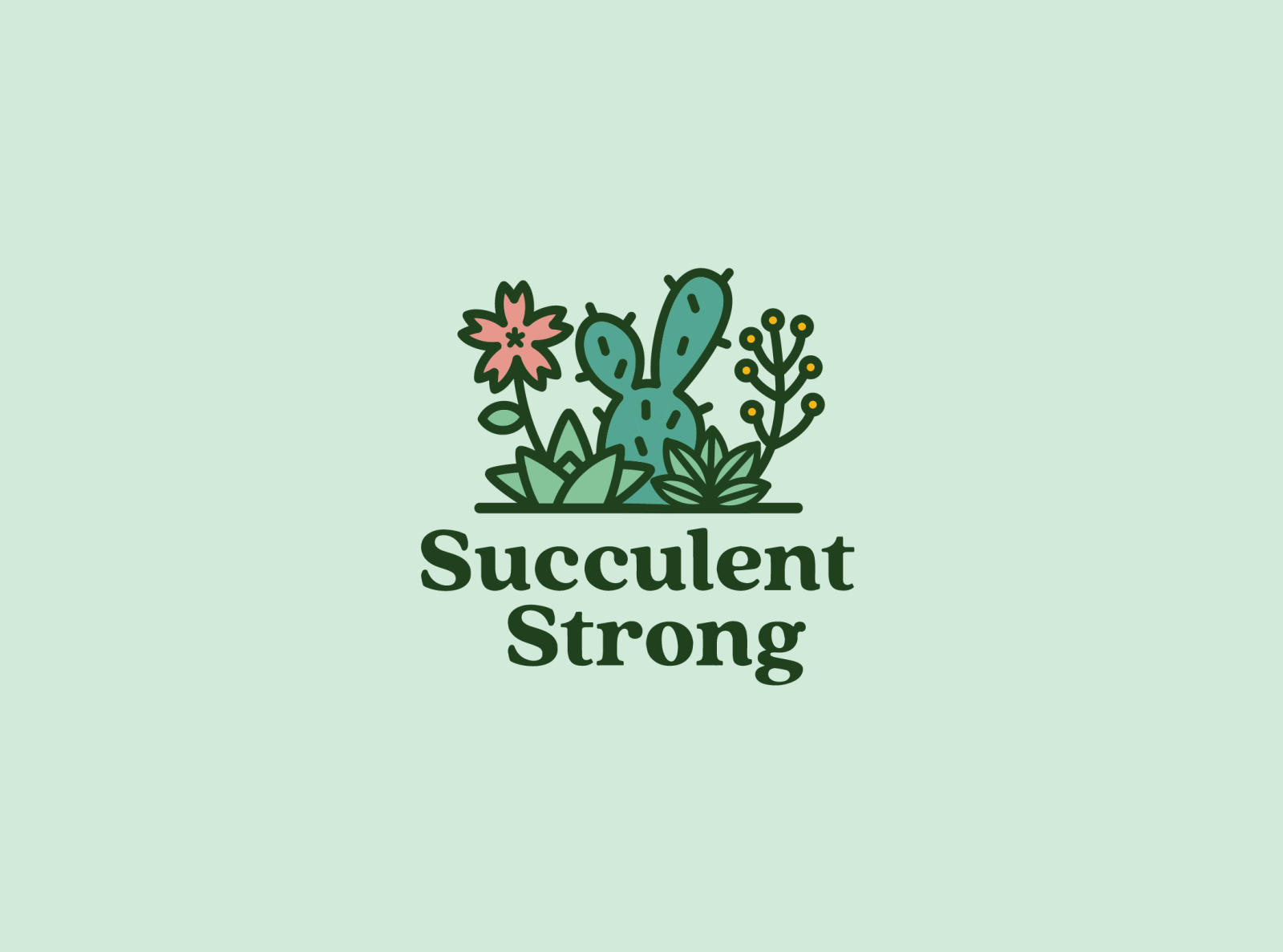 Succulent Logo by Em on Dribbble.