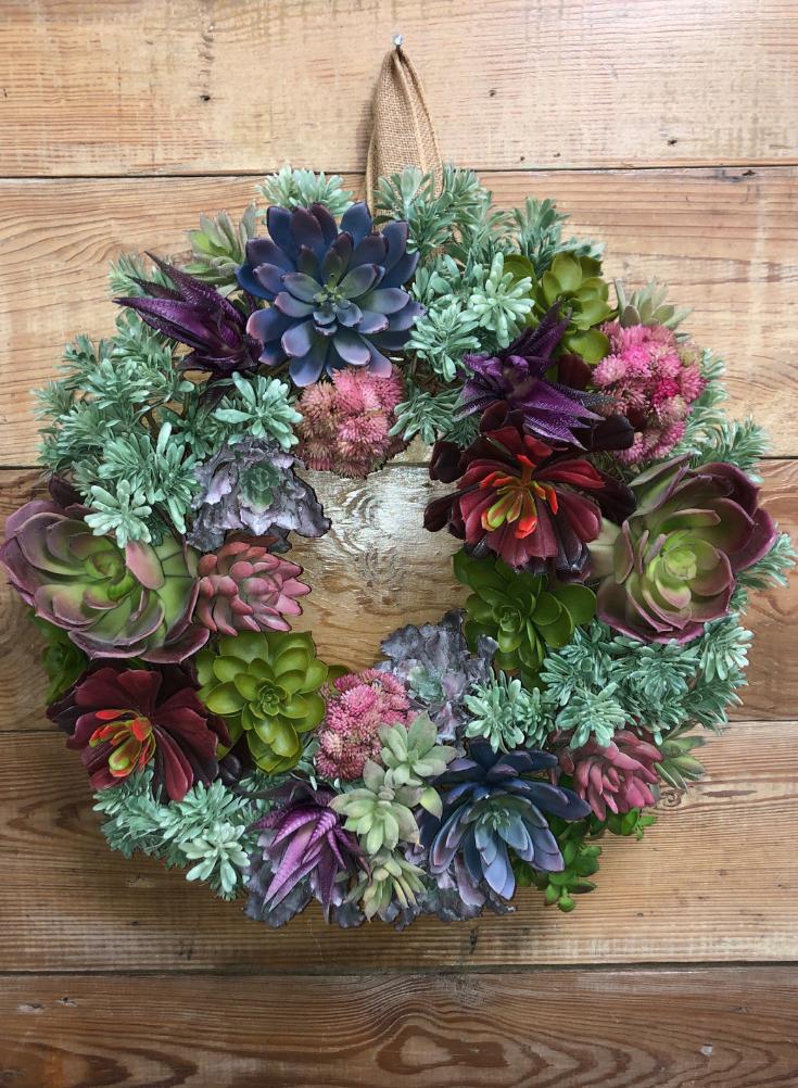 Summer Succulent Wreath.