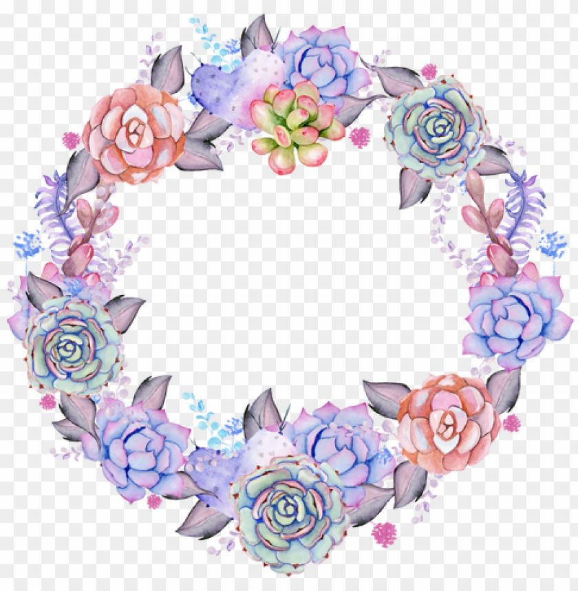 Download watercolor succulent wreath.