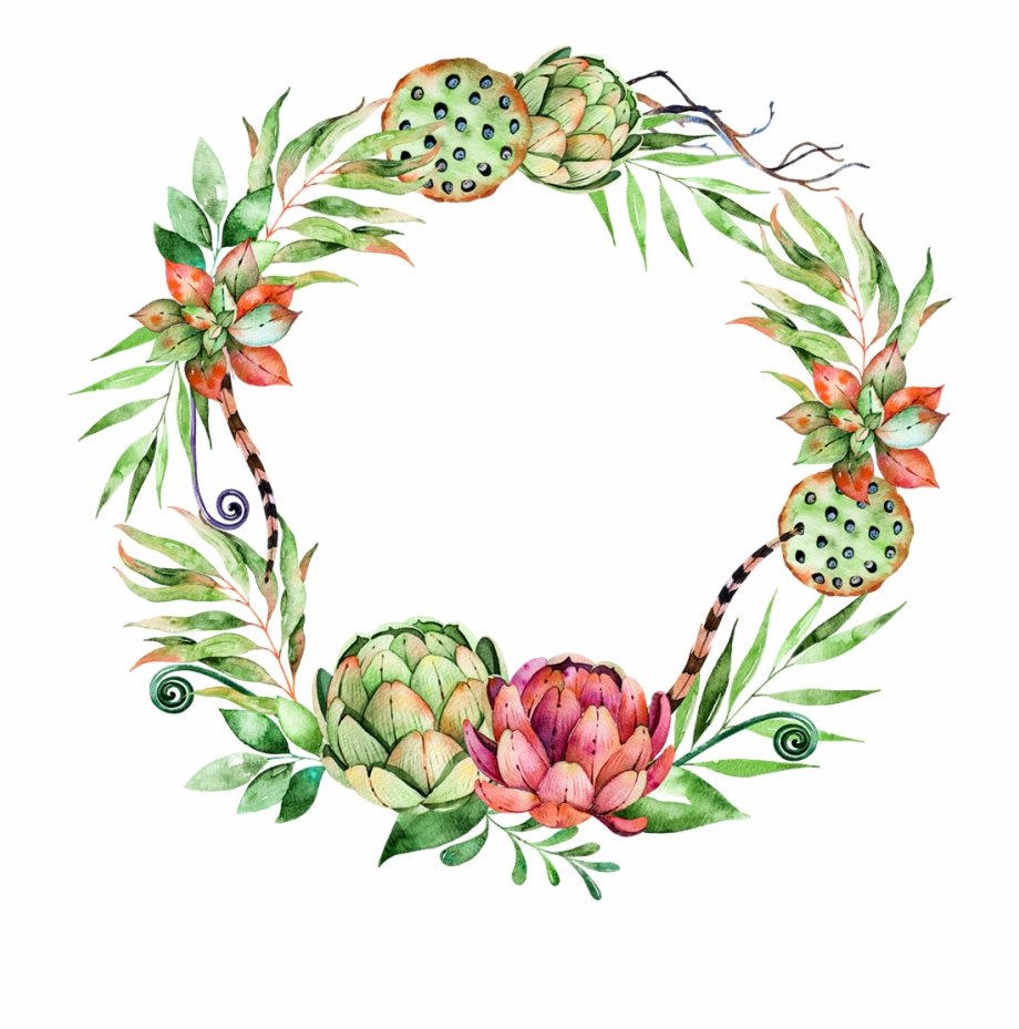 Svg Library Stock Flower Plant Wreath Illustration.
