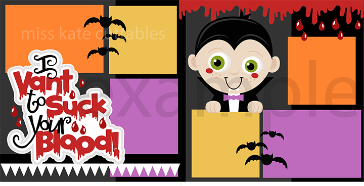 I Vant to Suck Your Blood SVG scrapbook title halloween svg cut.