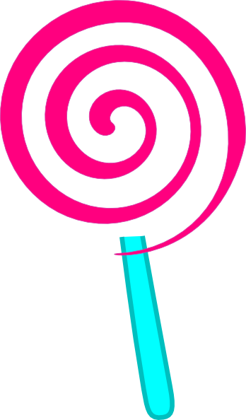 Candies suckers lollipops clipart vector transparent background.