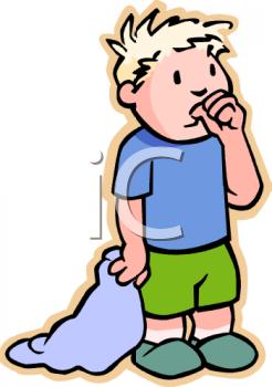 Boy Sucking His Thumb Clipart.