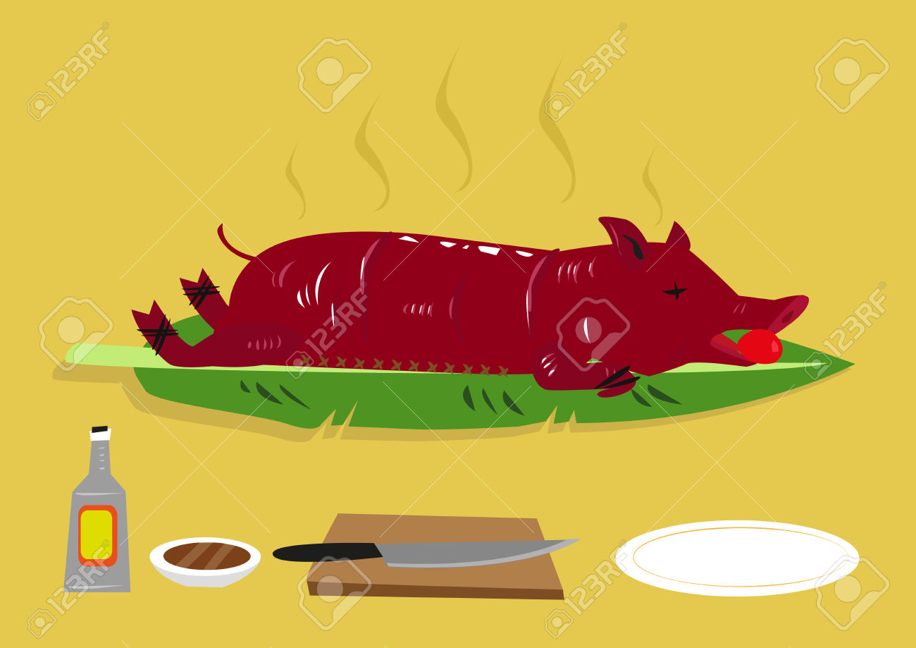 Lechon Or A Roasted Suckling Pig Is Popular Festival Food In.