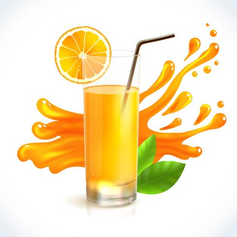 Respingo suco de laranja.