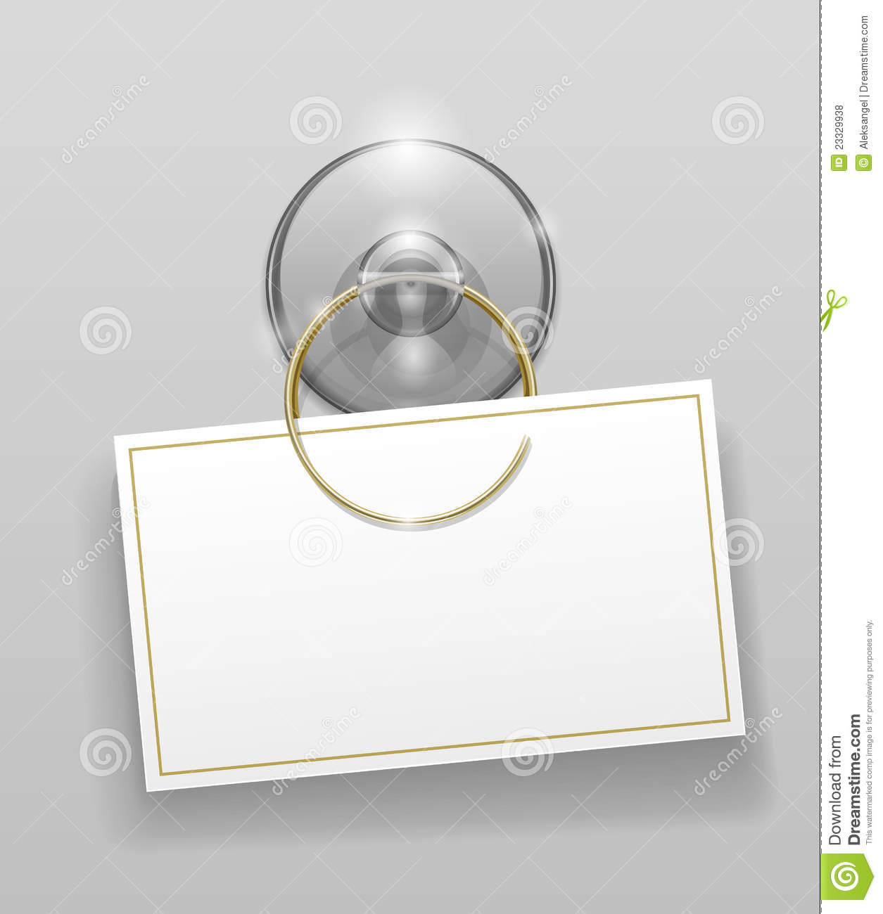Silicone Suction Cup With Badge Royalty Free Stock Photos.