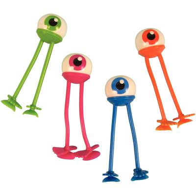 "Eyeball Bendables with Suction Feet, Assorted Colors, 4"", 24/Pkg."