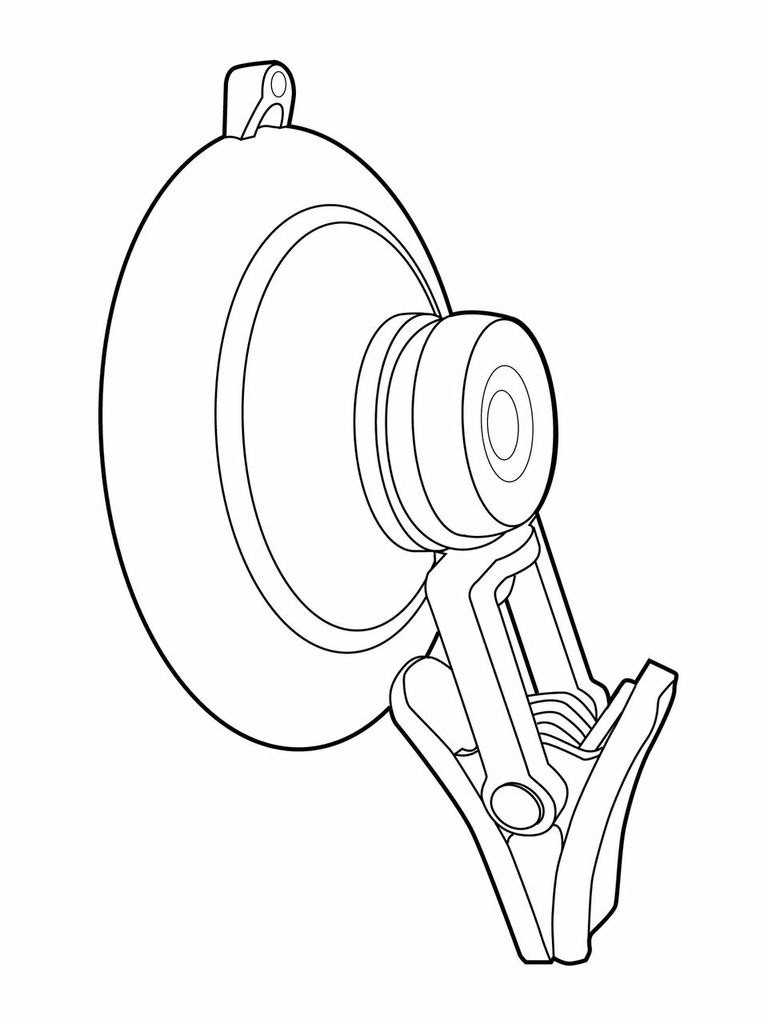Part # 130623, Clever Clip Suction Cup On Kinter (K International.