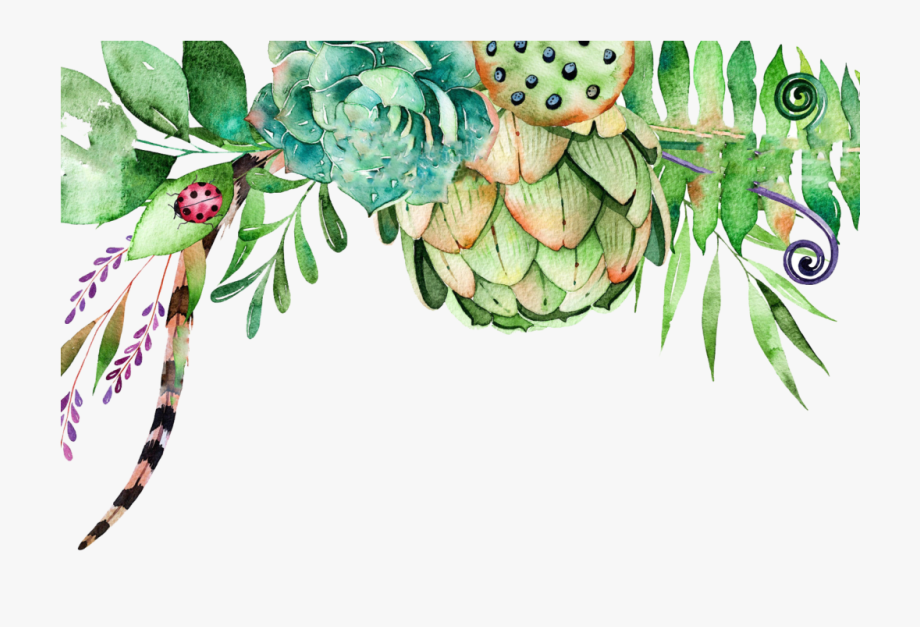 Free Watercolor Crane Composition Png.