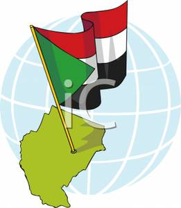 Sudan_With_National_Flag_Royalty_Free_Clipart_Picture_110205.
