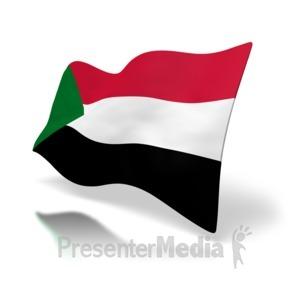 sudan flag perspective anim.