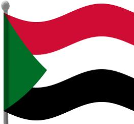 sudan flag waving.