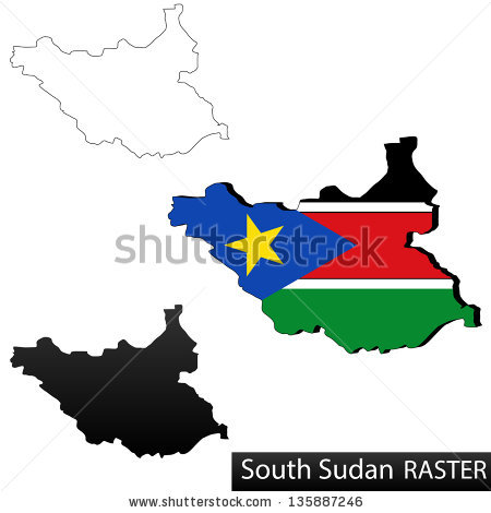 South Sudan Map Stock Images, Royalty.