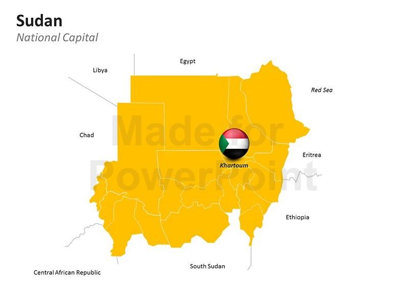 Sudan Map.