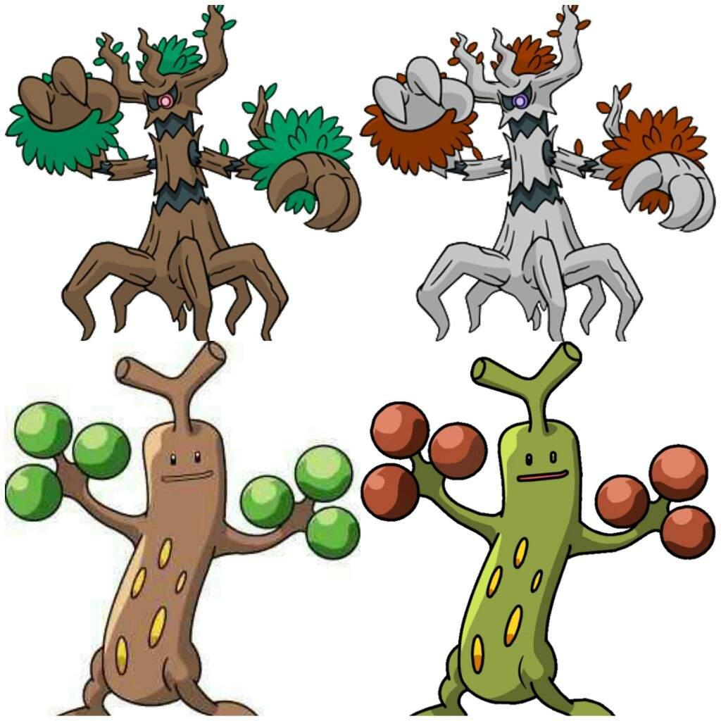 Pokémon Mimicry: Sudowoodo & Trevenant.
