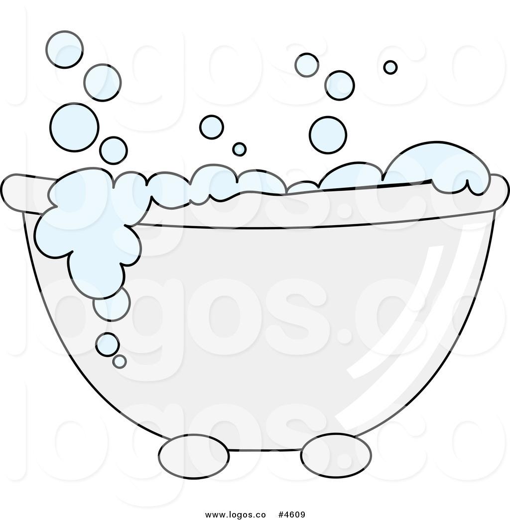 Wash Tub Bubbles Clipart.