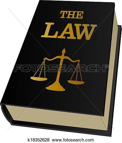 Clip Art of Law Book k18352628.