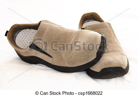Stock Photo of suede slip.