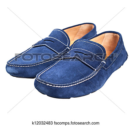 Blue Suede Shoes Clipart.